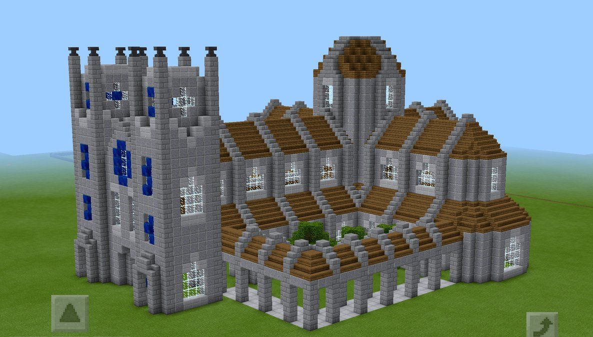 Minecraft cathedral test build by planetarymap on DeviantArt