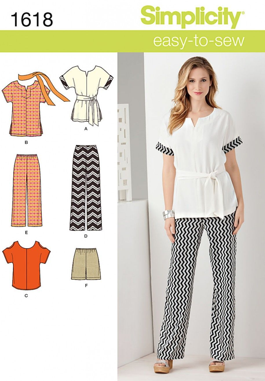 Simplicity 1618 Misses\' and Plus Size Easy Separates Sewing Pattern ...