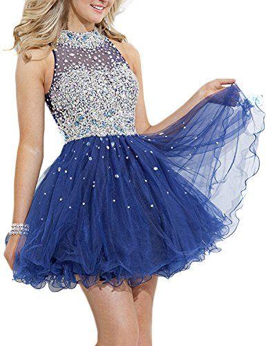 SeasonMall Women's Short Prom Dresses A Line