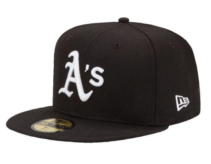 New Era Oakland Athletics 59Fifty Fitted Hat MLB Flat Bill Baseball Caps 5950