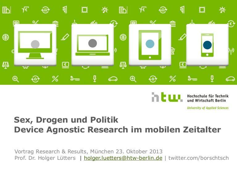 Erste Ergebnisse einer Studie von Prof. Dr. Holger Lütters (HTW ...