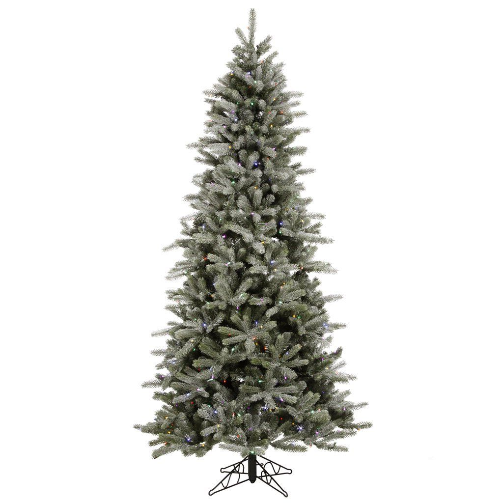 7 5 Ft Artificial Christmas Tree High Definition Pe Pvc Needles Frosted Frasier Fir Prelit Frosted Christmas Tree Frasier Fir Artificial Christmas Tree
