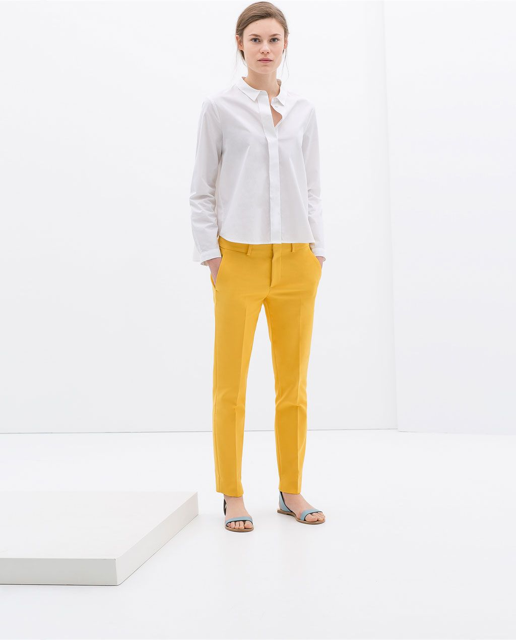 Image 1 of COTTON TROUSERS from Zara | Trousers women