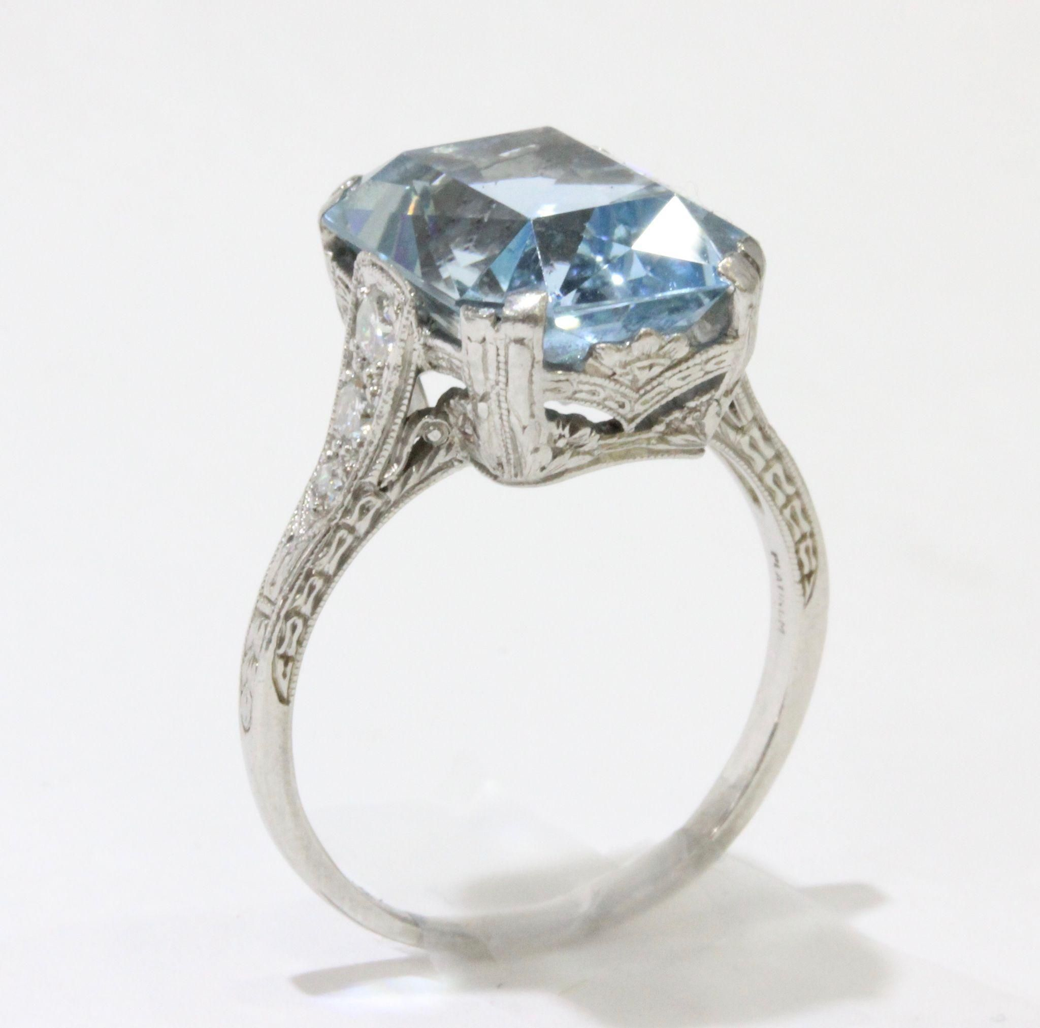 aquamarine non jewelry platinum diamond jewellery branded ring knotted in and