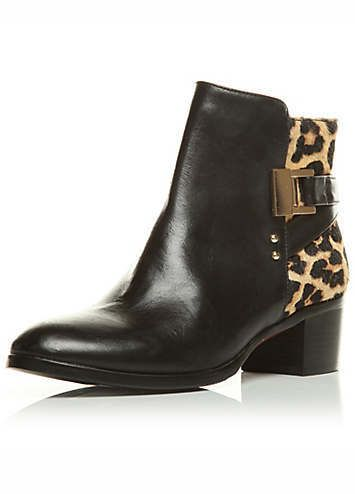 702a46129b1 Moda In Pelle Print Leather Ankle Boots | Leopard print ankle boots ...