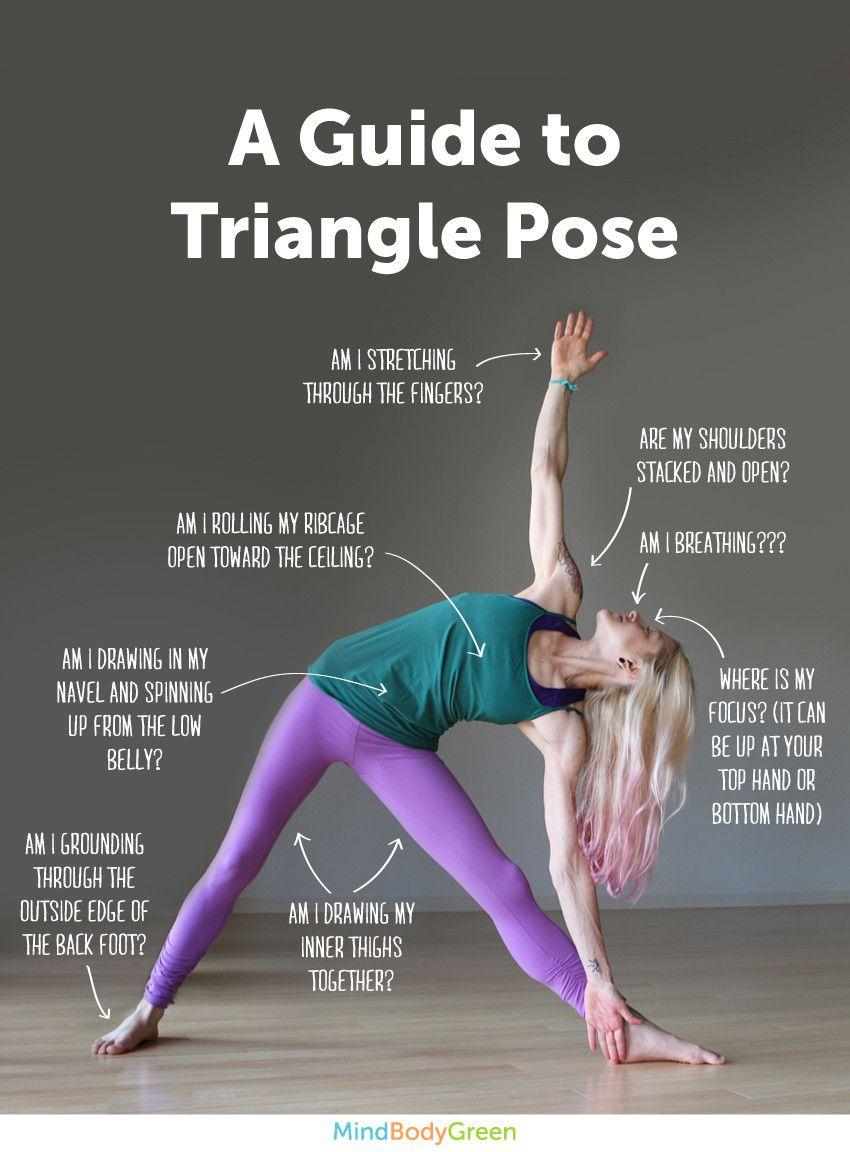 Excelente guía para la pose del triágulo.