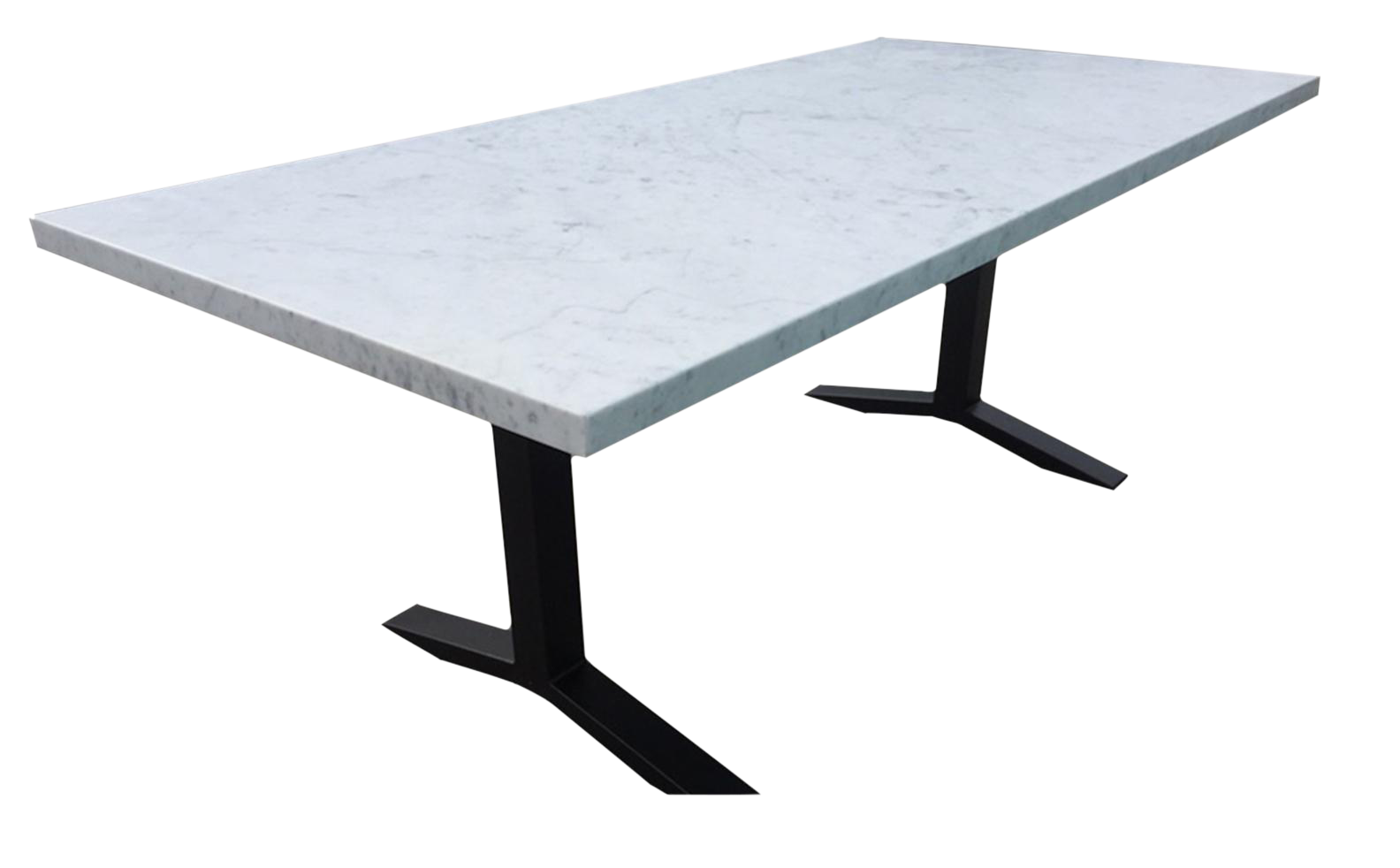 White Carrera Rectangle Pedestal Dining Table On Chairish Com Dining Table Dining Table Marble Pedestal Dining Table
