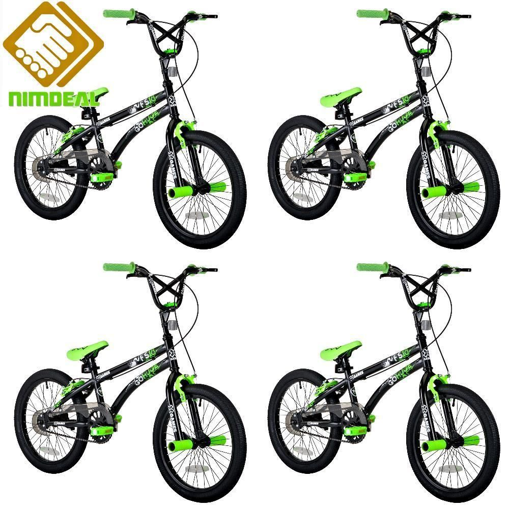 BOY BMX BIKE Freestyle 18 in Wheels Steel Rims Front Pegs