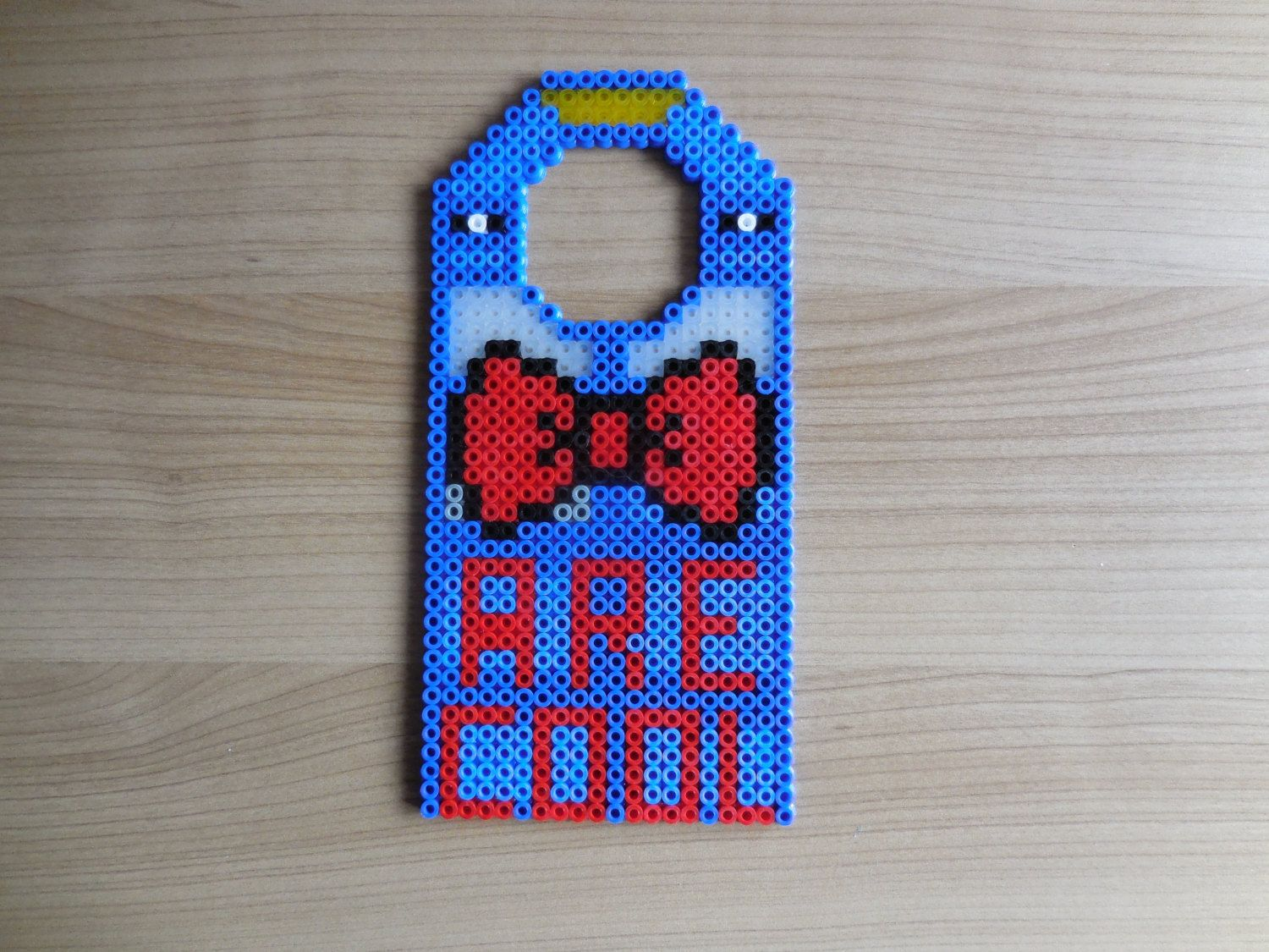bow ties are cool doctor who door hanger hama by