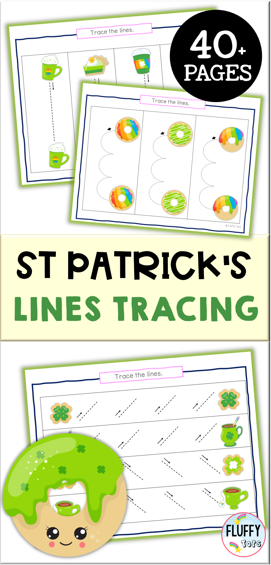 St Patrick S Day Pre Writing Tracing For Preschool St Patrick S Treats Pre Writing Preschool Tracing St Patrick Day Activities [ 1959 x 940 Pixel ]