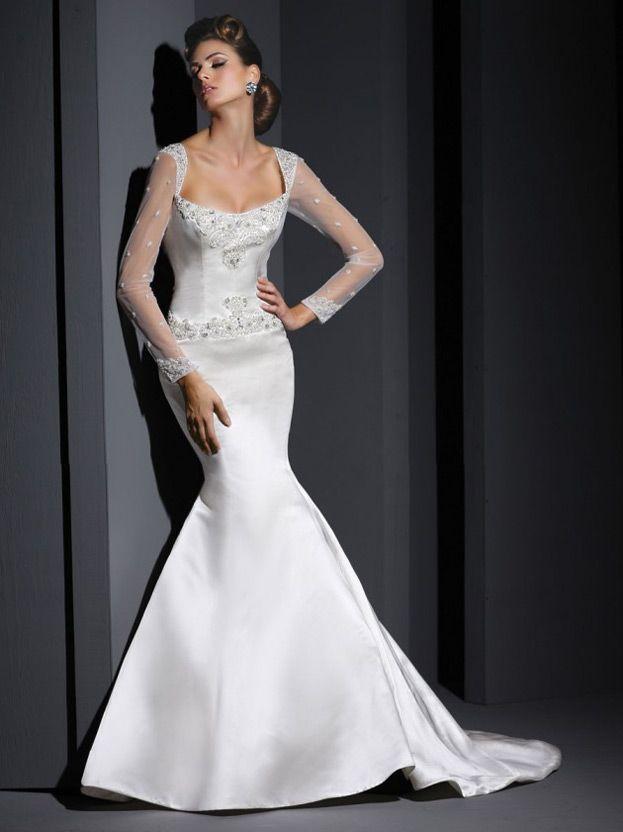 свадебное платье рыбка с закрытыми плечами