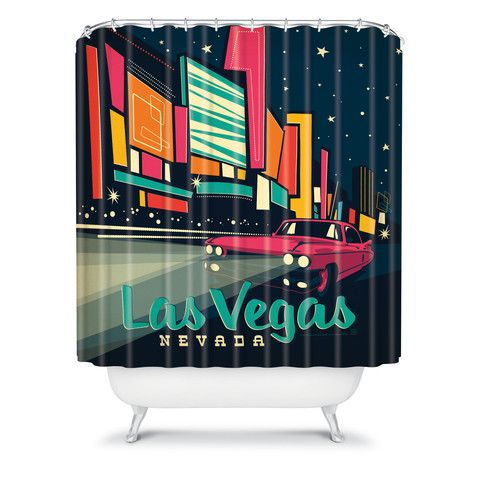 Anderson Design Group Las Vegas Shower Curtain With Images Las