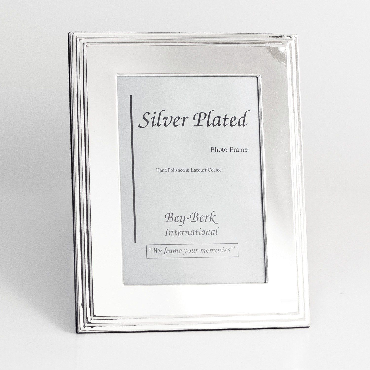 Bey Berk Silver Plated Tiered Edge 8 X 10 In Photo Frame Tarnish Proof Sf107 12 Clip Picture Frame Photo Frame Frame