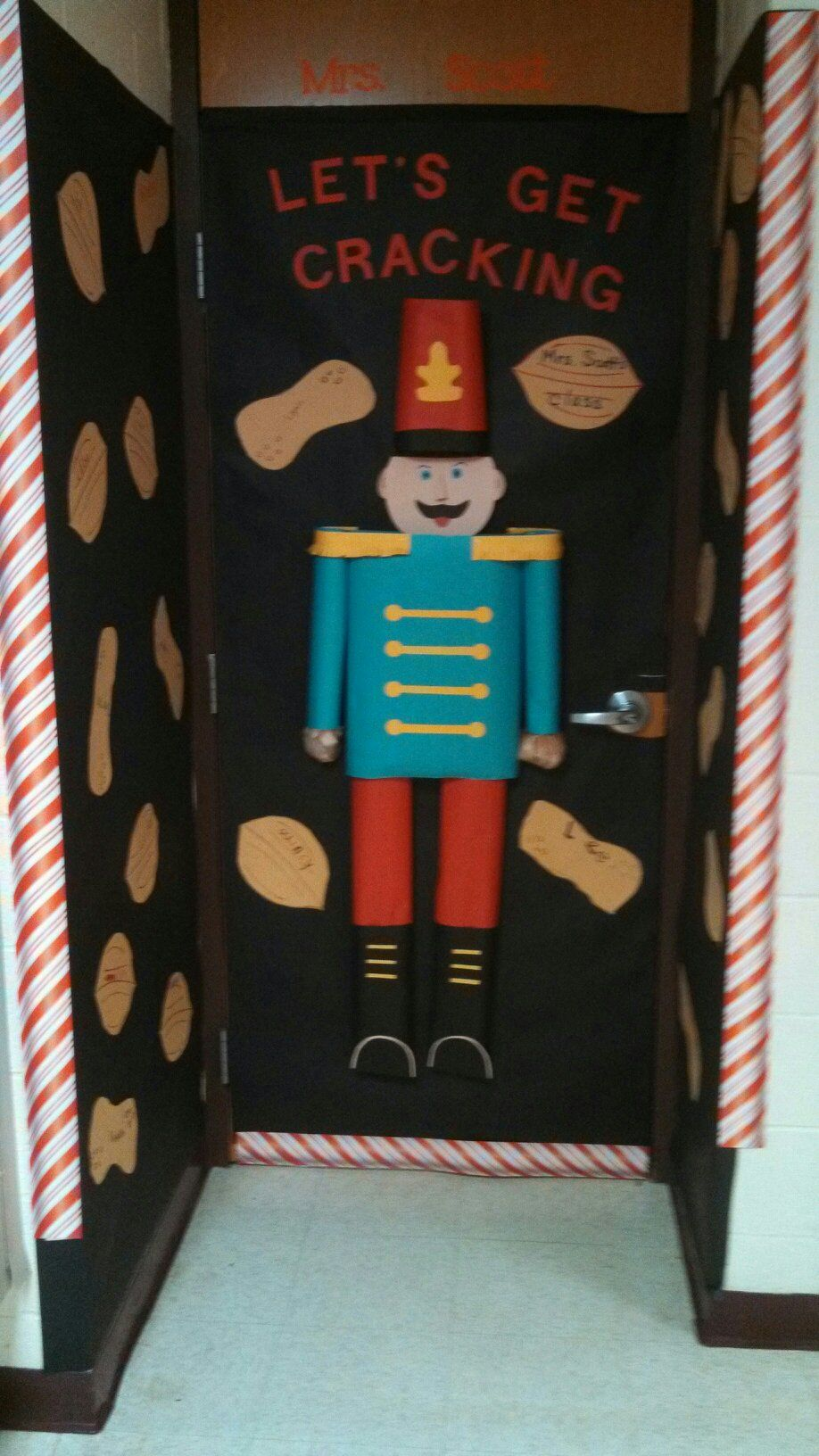 Nutcracker 3 D Door Decoration Kids Wrote Name On A Nut