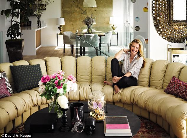 Cat loves entertaining her Brit pack friends at her home in the hills: her Swiss seventies sofa seats a dozen people at a time