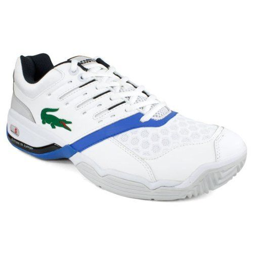 Lacoste Men`s Gravitate 2 White/Blue Tennis Shoes on Sale