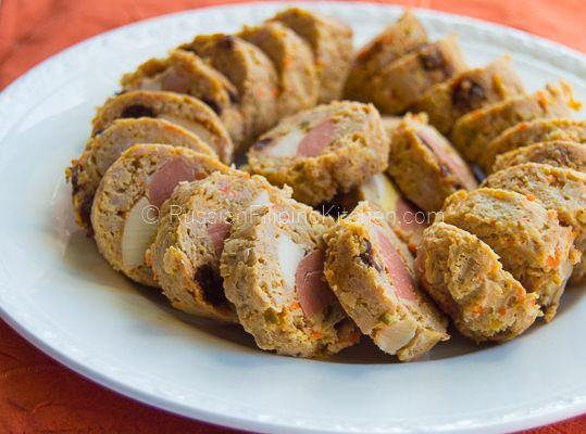 Baked chicken embutido recipe