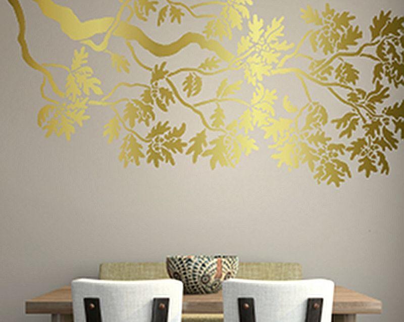 Oak Branch Stencil | Lair Embellishments | Pinterest | Stenciling ...