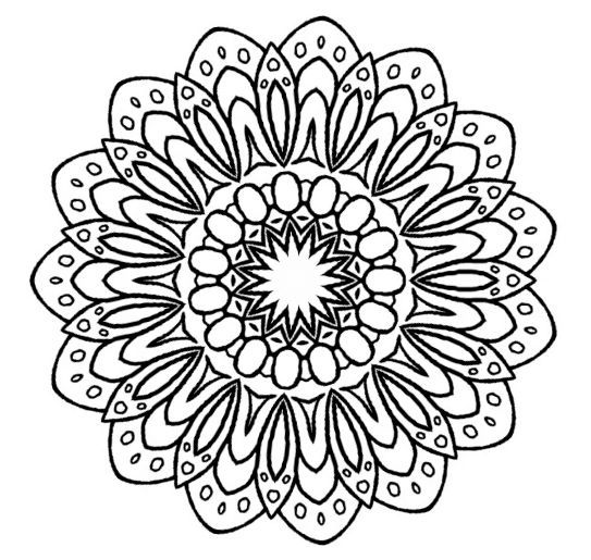 small flower zentangle mandala doodle drawing by kathyahrens - Small Flower Coloring Pages