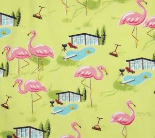 Nick & Nora Flamingo Poolside Sheets. This is the print that's on my make up bag (: