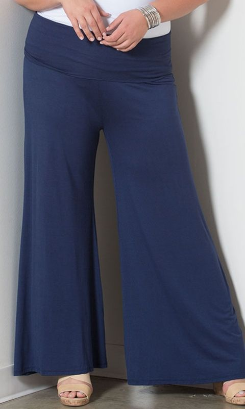 7fc242fb742 Classic Jersey Pants in Navy at Curvalicious Clothes bbw  curvy   fullfigured  plussize  thick  beautiful Sexy  fashionista  style  fashion   shop  online ...