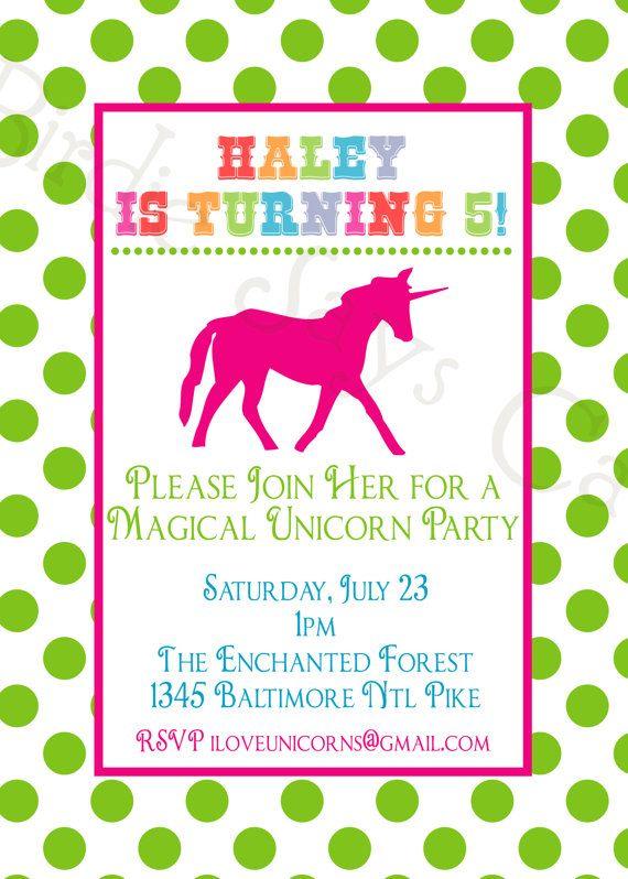 Kenzie events pinterest unicorn birthday parties unicorn kenzie half birthdayunicorn birthday partiesrainbow unicorn partyprintable invitationsrainbow filmwisefo