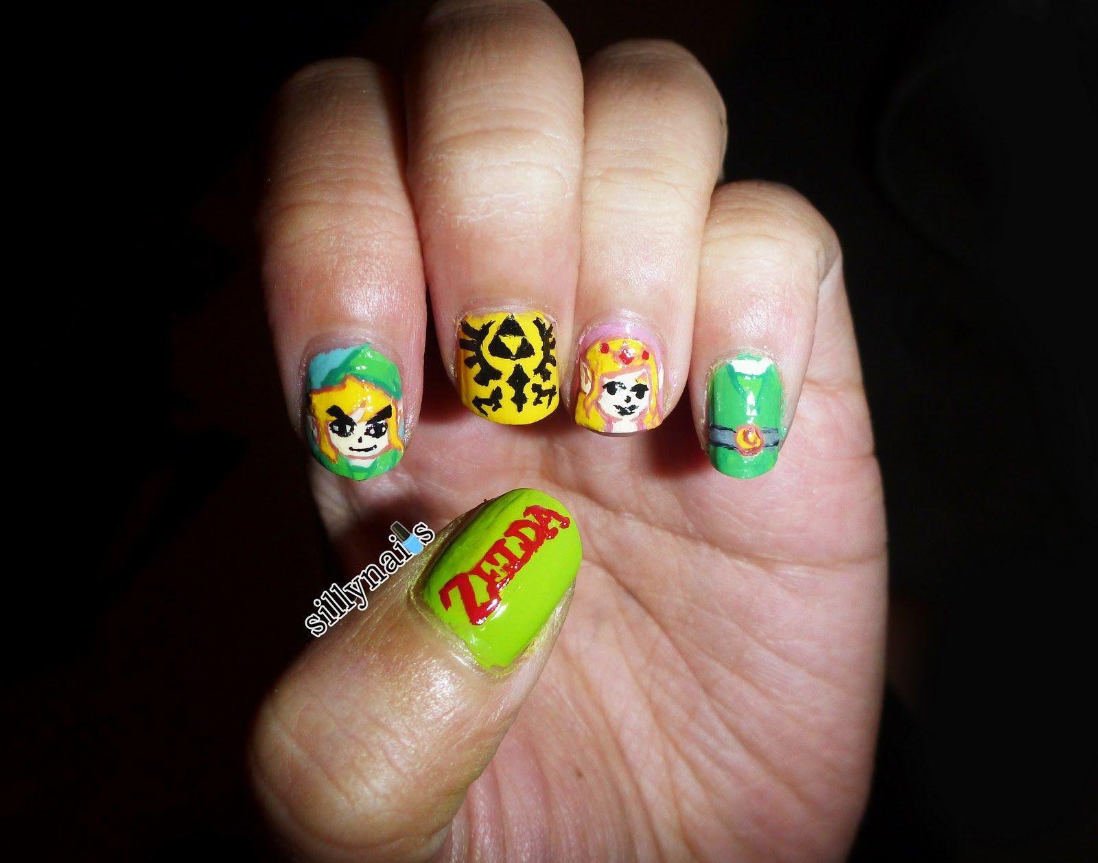 Legend Of Zelda Nail Art Gamer Nail Art Pinterest