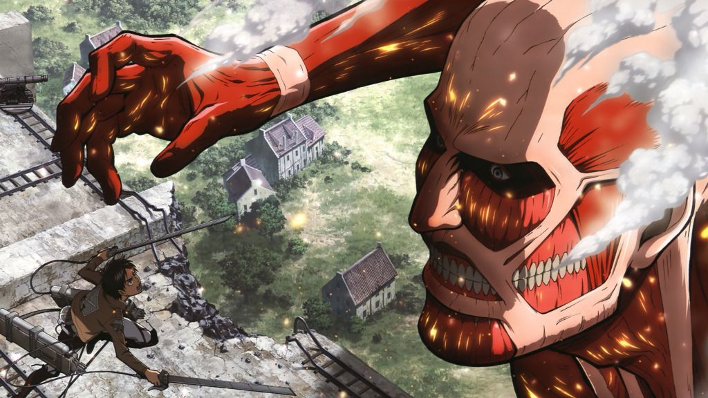 Titan Colosal Vs Eren Jaeger Attack On Titan Season Attack On Titan Attack On Titan Season 2