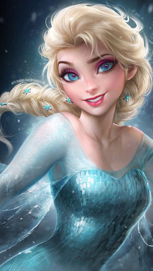 Frozen Elsa & Anna Digital Fan Art Wallpapers CHARACTER
