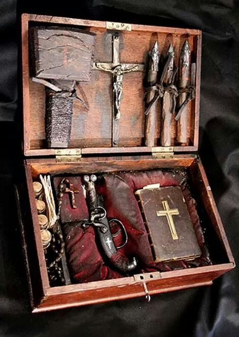 Vampire Hunting Kit, French, early 19th century...
