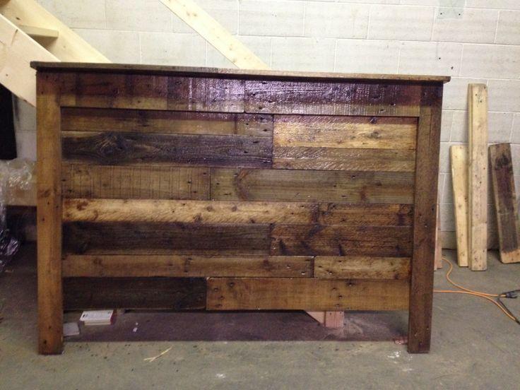 DIY Pallet wood headboard | I built it! | Pinterest | Wood ...