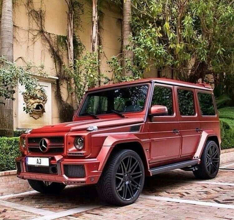 Matte Red Mercedes G Class Mercedes G Wagon Mercedes G G Wagon Amg
