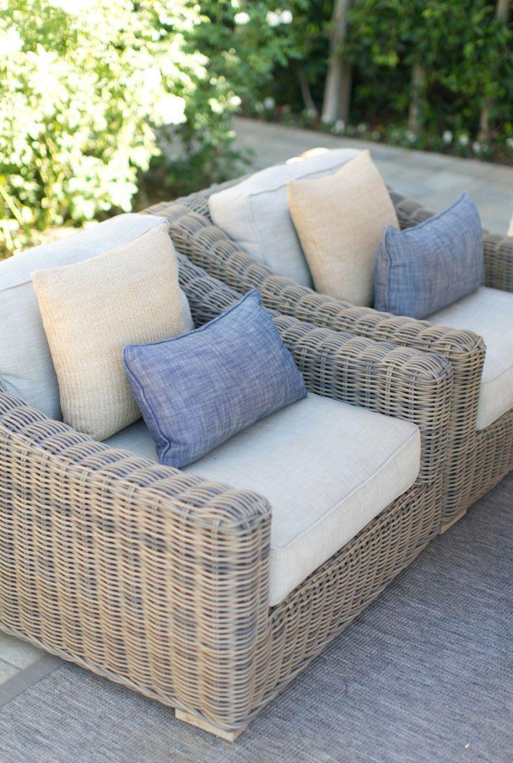 French Country Home Rattan garden furniture, Garden