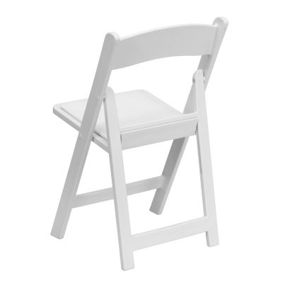 Hercules Series 1000 Lb Capacity White Resin Folding Chair With White Vinyl Padded Seat White Products Folding Chair Furniture Chair