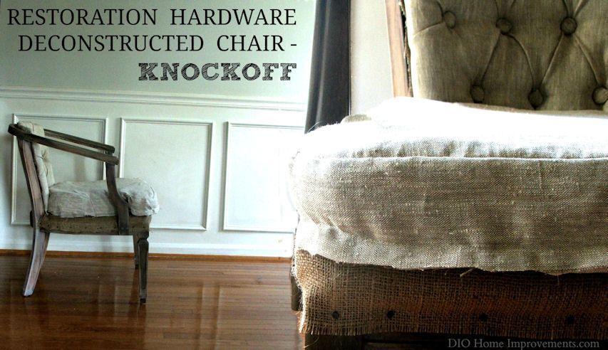 DIY Restoration Hardware Deconstructed Chair Knockoff Decor