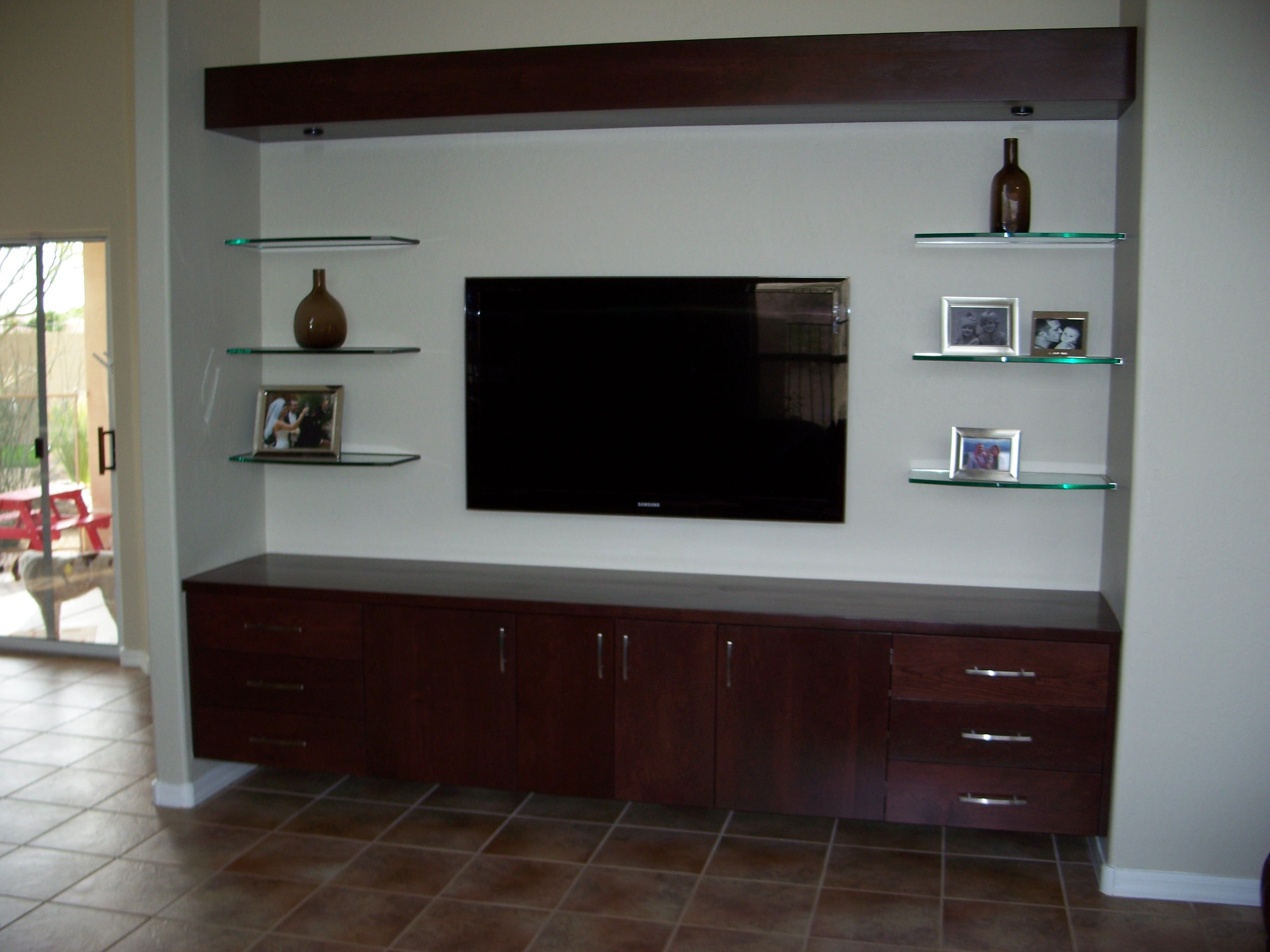 Simple wall mounted tv unit designs decoration minimalist living