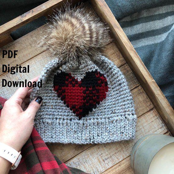 50d5efdd88c Plaid About You Beanie PDF DIGITAL DOWNLOAD Crochet Pattern