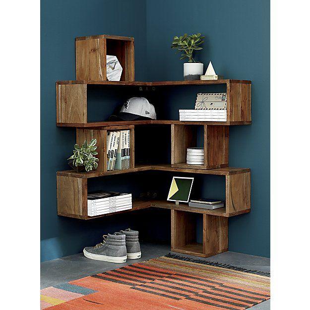 Shop Corner Block Wood Shelf Corners Become Attractive Usable Space With This Clever Configuration Of Cubbi Corner Shelf Design Wood Corner Shelves Shelves