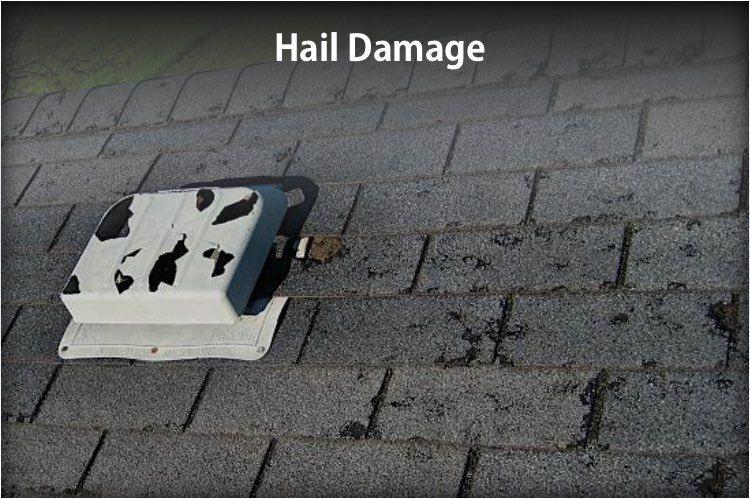 Hail damage roofing diy roof repair damaged