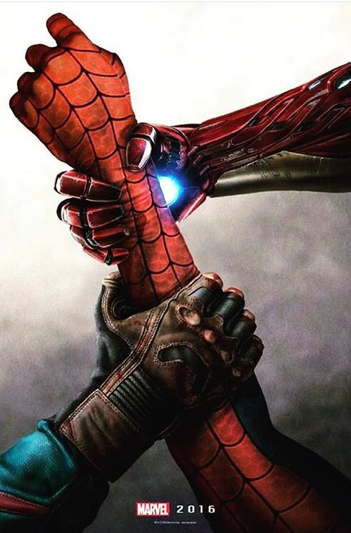 So Epic !!! Captain America: Civil War. Captain America Iron Man Spider-Man