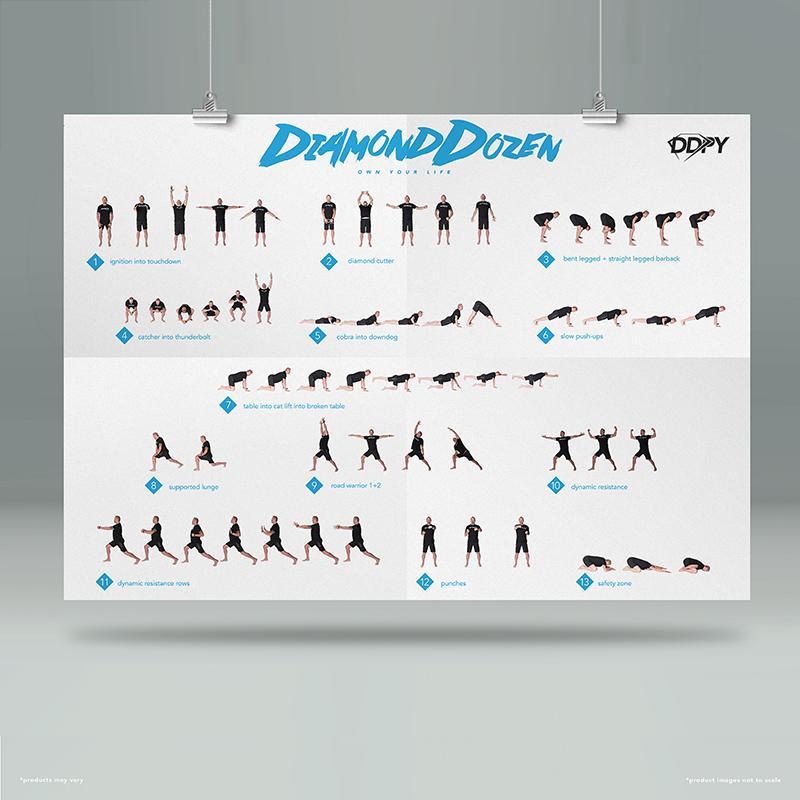 Diamond Dozen Poster | DDP Yoga