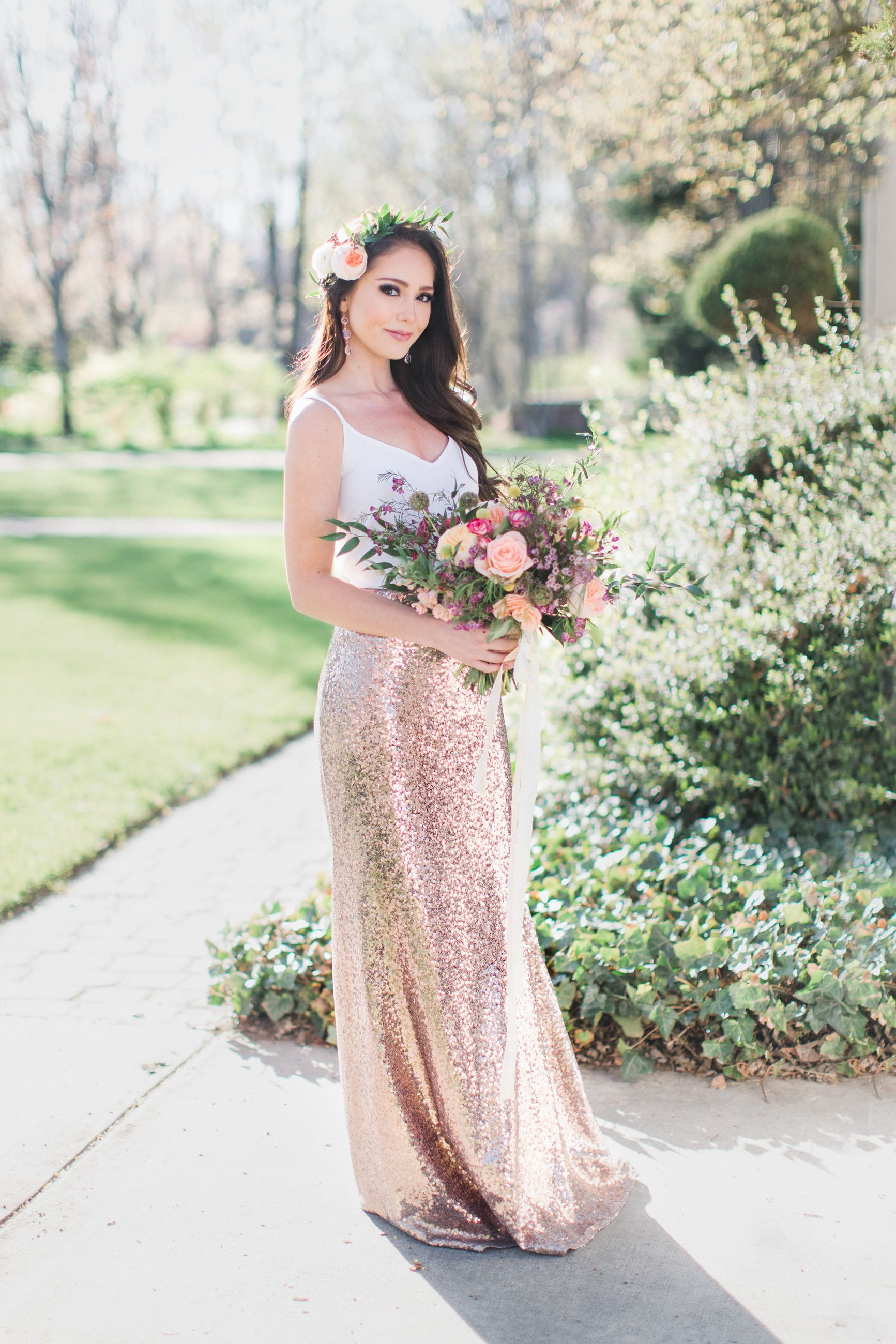 gold this stunning two bridesmaid is