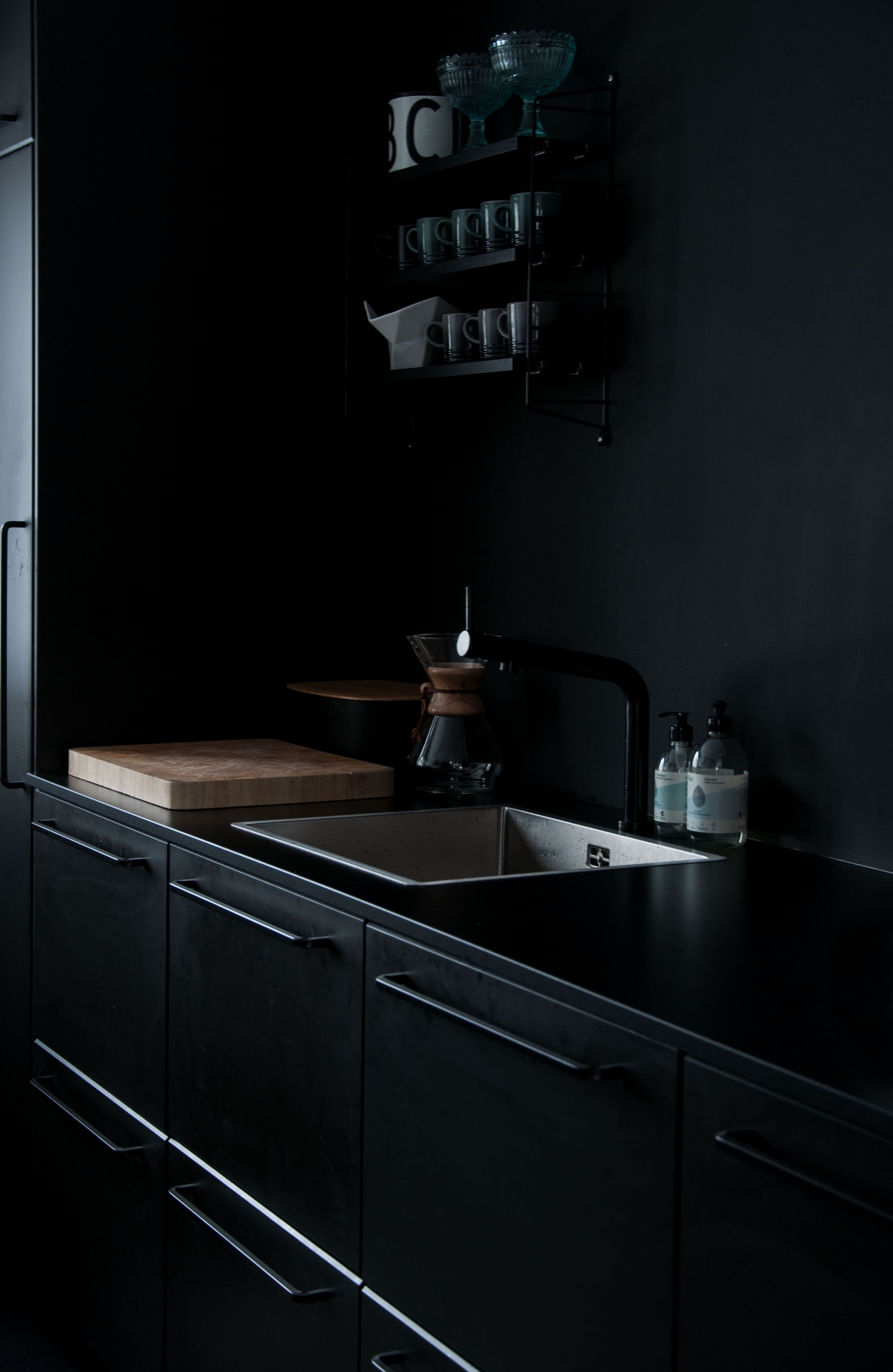 All Black Kitchen Black Kitchens Kitchen Kungsbacka