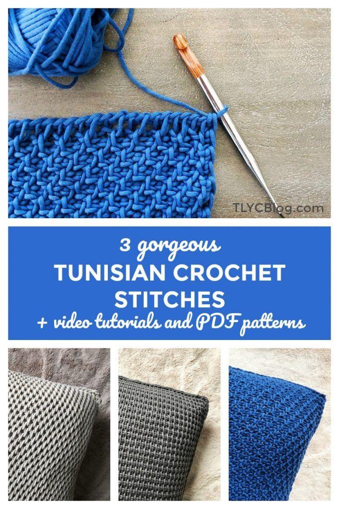 tunisian crochet video tutorial tunisian simple stitch full stitch ...