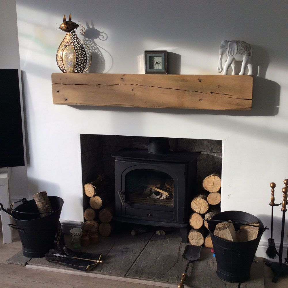 Fireplace Beams Oak Fireplace Beam Above Log Burner Lightly Worked Design Decor
