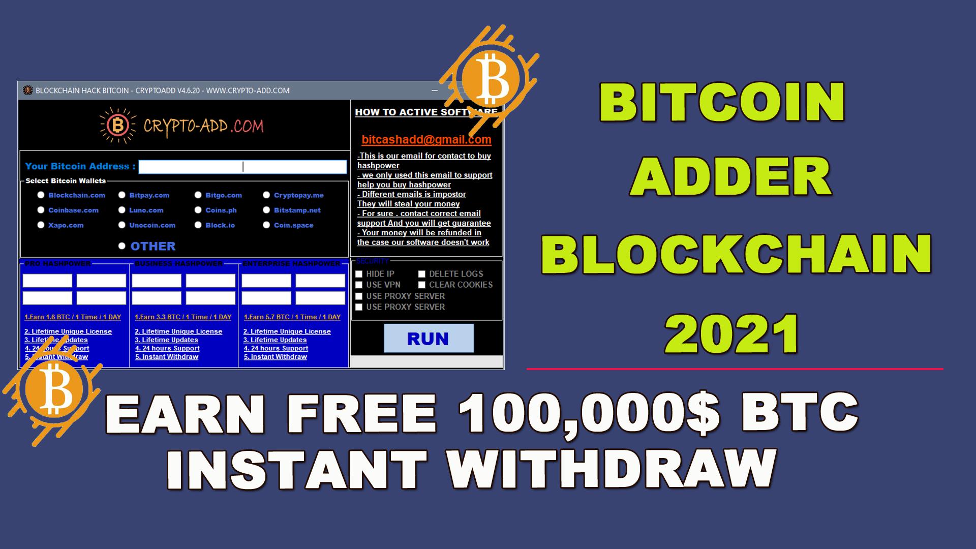 free bitcoin adder 2021 youtube bitcoin tutorial