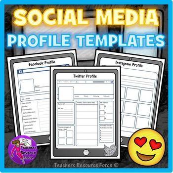 social media profile template