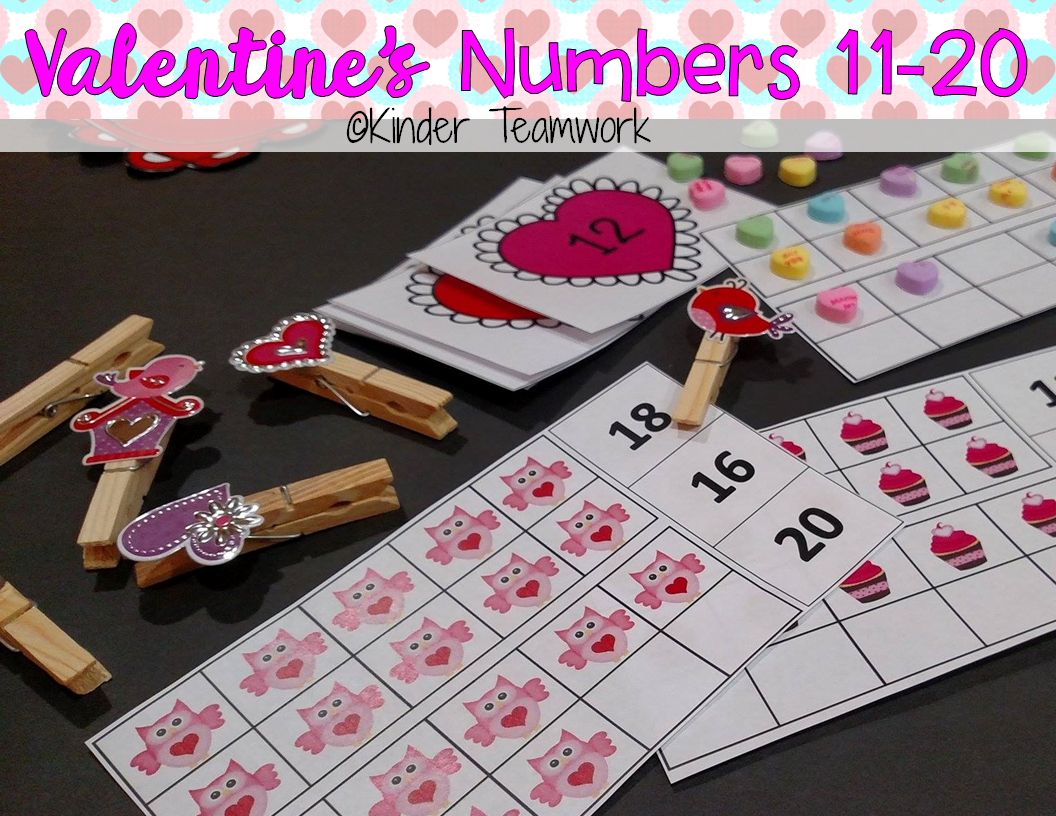 Numbers 11 20 Valentine S Day Edition