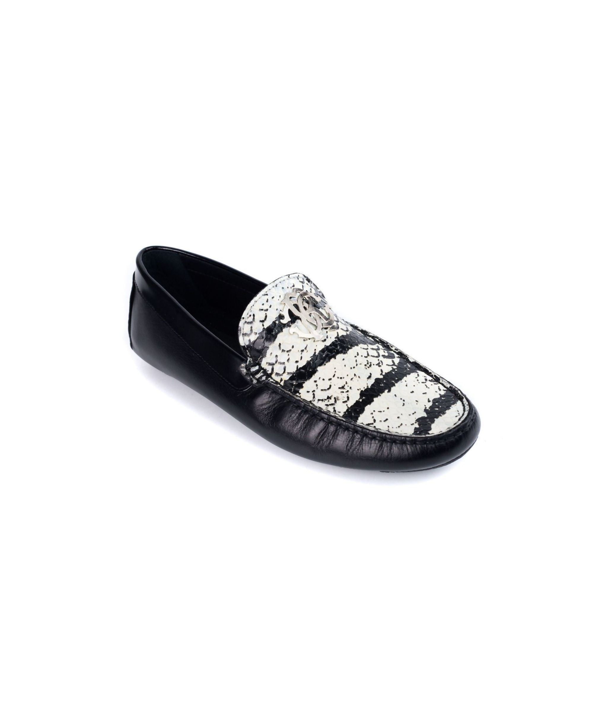 Womens black leather loafers