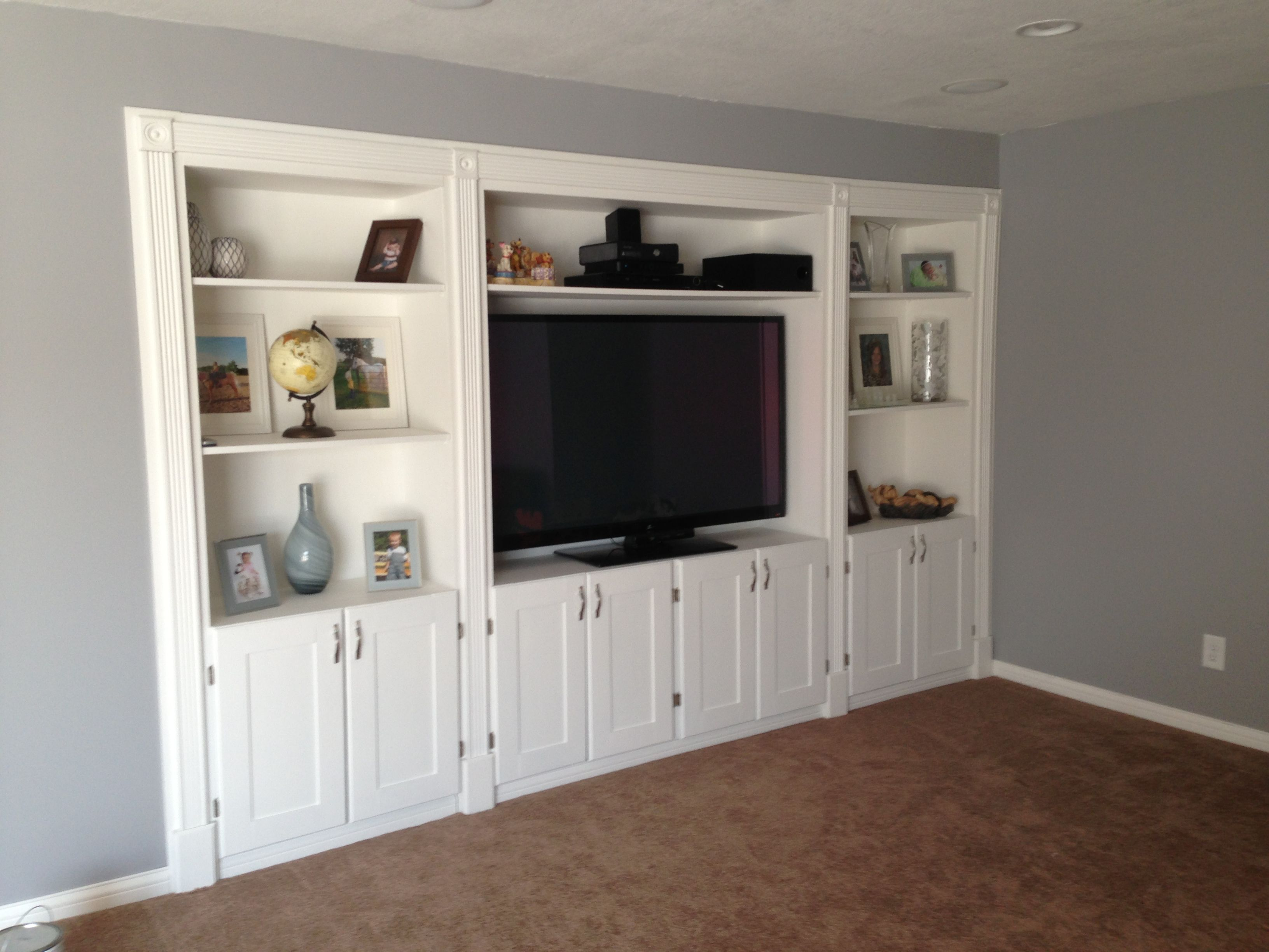 Built In Entertainment Center With A Secret Door Do You Know - Built in cabinets entertainment center design pictures remodel